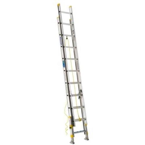 Werner D1720-2EQ Aluminum Extension Ladder with Equalizer