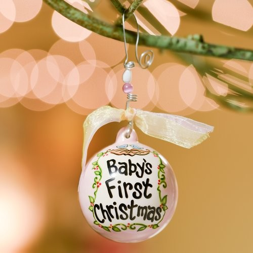 Glory Haus Baby's First- Birds in Nest Ball Ornament