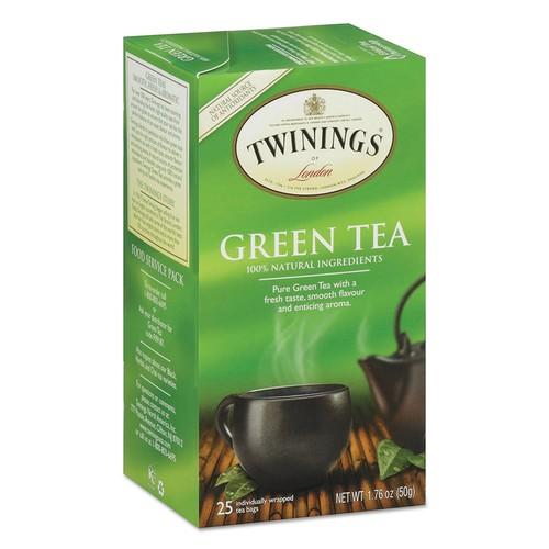 TWININGS Tea Bags, Green, 1.76 oz, 25/Box | PJP Marketplace
