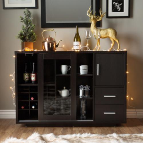 Furniture of America Landers Modern Cappuccino Buffet Server