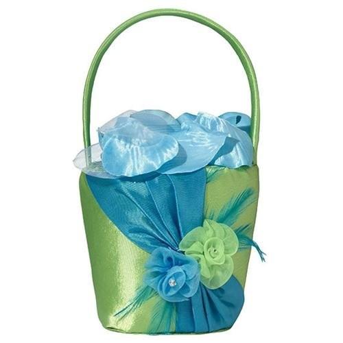 Blue and Green Flower Girl Basket