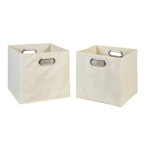 Niche Cubo Foldable Fabric Storage Bins [Natural, Set of 2]