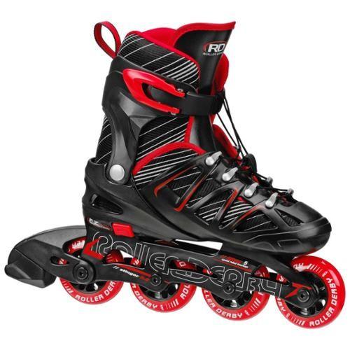Roller Derby Stinger 5.2 Adjustable Boy's Inline Skates - I141B (Black/Red - Medium (2-5))