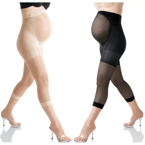 Mama SPANX 007 Maternity Footless Pantyhose Back & Belly Support Shapewear