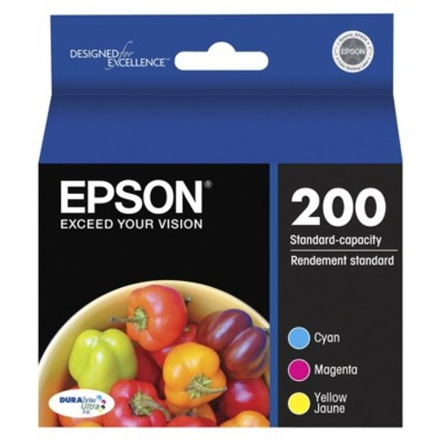 Epson T200520 DURABrite Ultra Ink Color Combo Pack, Standard Capacity Cartridges, Cyan, Magenta, Yellow [Color Combo Pack]