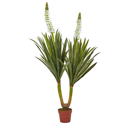 Nearly Natural 57 Flowering Yucca Plant