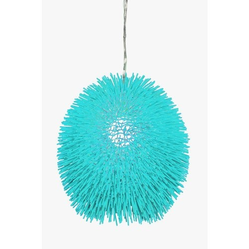 Varaluz 169P01BL Black Urchin One Light Pendant - Display Sample