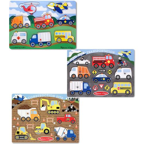 Melissa & Doug Peg Puzzle Boy Bundle