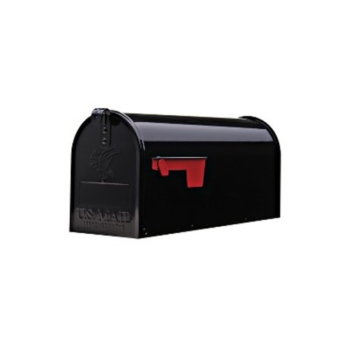 Gibraltar Mailboxes Elite Medium Capacity Galvanized Steel Black, Post-Mount Mailbox, E1100B00 [Black]