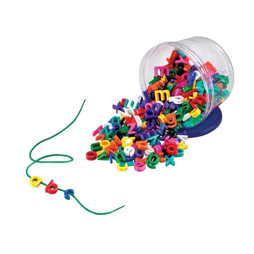 Learning Resources Lowercase Lacing Alphabet Kit, 275 Pieces