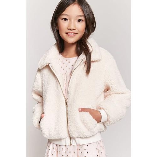 Girls Faux Shearling Jacket (Kids)