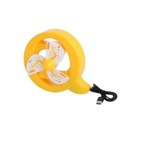 Portable Plastic Letter Pattern USB Powered High Velocity Quiet Mini Fan Yellow