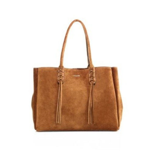 LANVIN Small Tasseled Suede Tote
