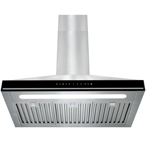 AKDY 30 in. Convertible Kitchen Wall Mount Range Hood in Stainless Steel with LEDs and Touch Controls