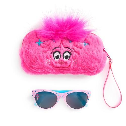 DreamWorks Trolls Poppy Girls 4-16 Sunglasses & Faux-Fur Case Set
