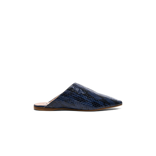 Acne Studios Leather Amos Babouche Slippers in Multi Blue