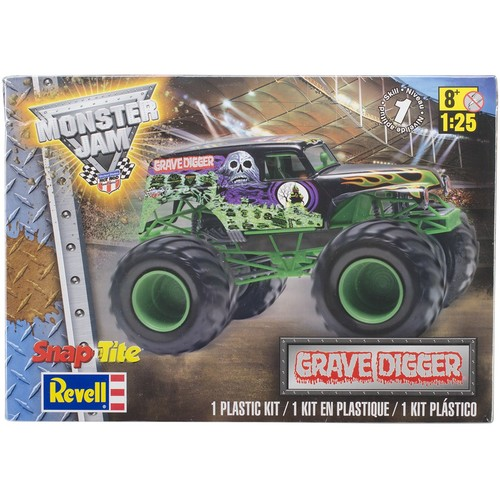 Revell of Germany Snaptite Plastic Model Kit Grave Digger Monster Truck 1:25