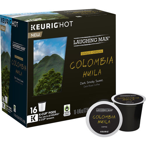 Keurig - Laughing Man Colombia Huila K-Cup Pods (16-Pack) - Brown