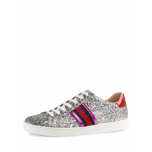 GUCCI Ace Glitter Low-Top Sneaker