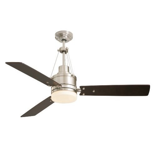 Emerson CF205BS Ceiling Fan with Light and Remote, 54-Inch Blades, Brushed Steel [Brushed Steel]
