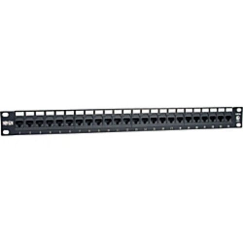 Tripp Lite 24-Port Cat6 Cat5 Patch Panel Rackmount 110 Punch Down RJ45 Ethernet 1URM