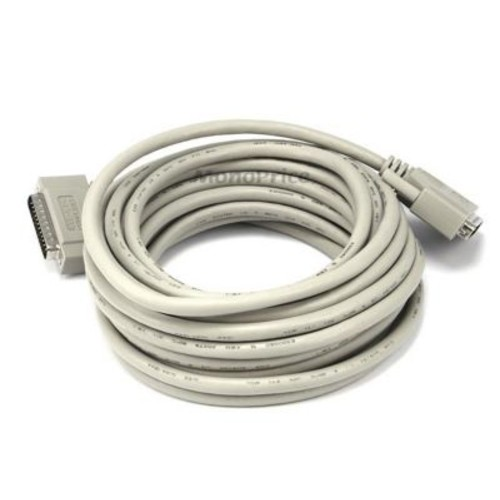 Monoprice 25' IEEE 1284 DB-25 Male to Male Printer Cable