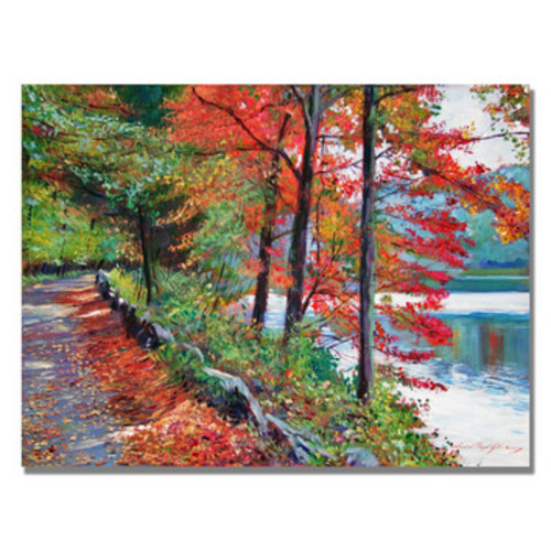 'Rockefeller Park' by David Lloyd Glover Framed Painting Print on Wrapped Canvas