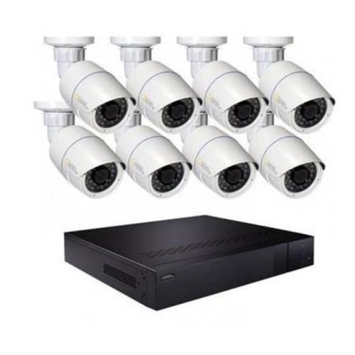Q-See 16 Channel H.265 IP NVR with 8x 4MP Bullet Cameras and 3TB HDD