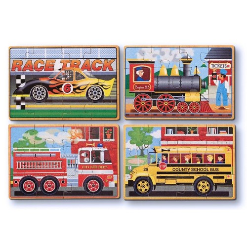 Melissa & Doug Vehicle Puzzles in a Box