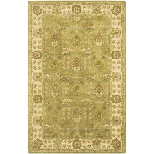 Chandra Adonia Green/Ivory/Olive/Brown 7 ft. 9 in. x 10 ft. 6 in. Indoor Area Rug