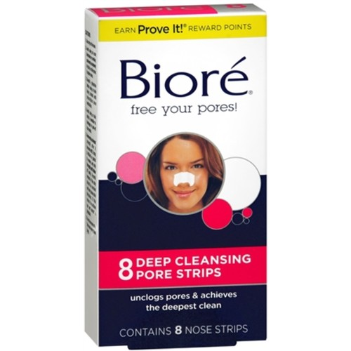 Biore Deep Cleansing Pore Strips, 8 Count Nose Strips [8 count]