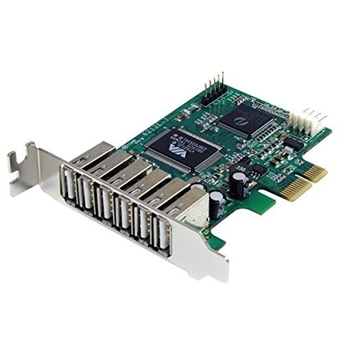StarTech.com 7 Port PCI Express Low Profile High Speed USB 2.0 Adapter Card - PCIe USB 2.0 Card - PCI-E USB 2.0 Card [PCI Express (PCIe), 6x External + 1x Internal]