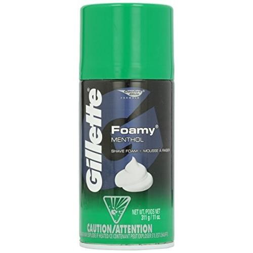 Gillette Foamy Shave Cream, Menthol, 11 oz [Pack of 1]