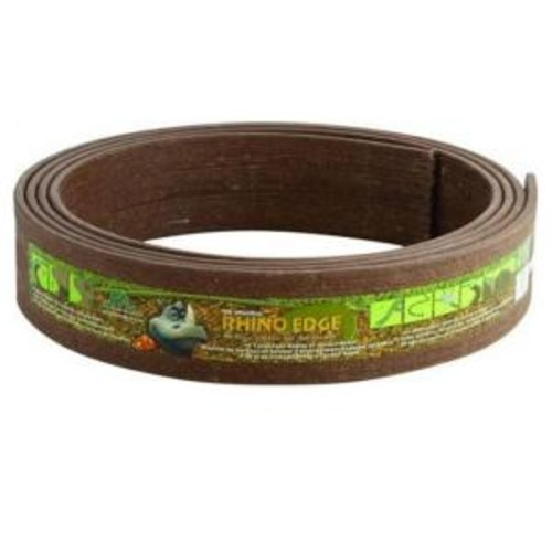 Master Mark Rhino Edge 3 1/2 in. x 16 ft. Coil Chestnut Landscape Lawn Edging with Stakes