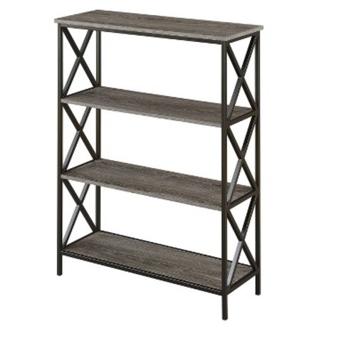 Tucson 4 Tier Bookcase Weathered Gray 42