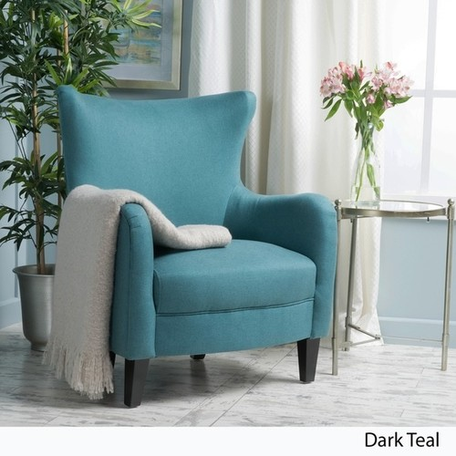 Arabella High-Back Fabric Club Chair by Christopher Knight Home