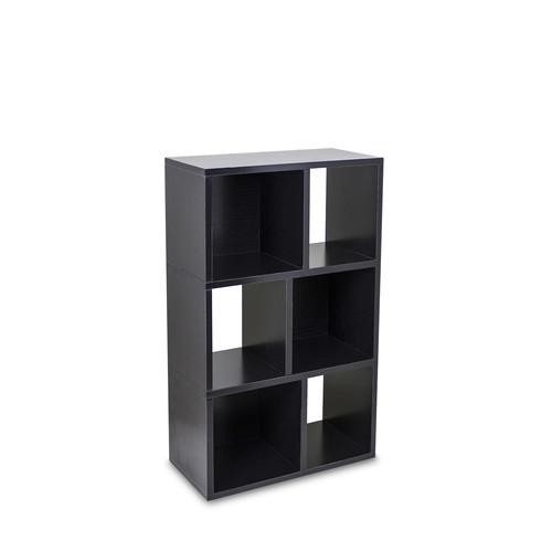 Laguna Bookcase by Way Basics | black | Gilt