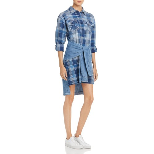 CURRENT/ELLIOTT The Twist Shirt Dress
