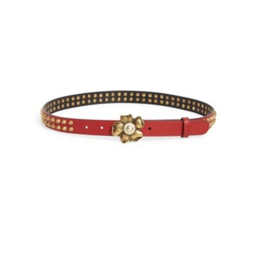GUCCI Studded Flower Buckle Belt