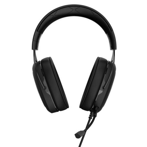CORSAIR - HS50 Wired Stereo Gaming Headset for PC, Xbox One, PS4, Nintendo Switch and Mobile Devices - Carbon