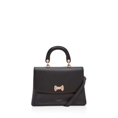 TED BAKER Curved Bow Lady Leather Satchel