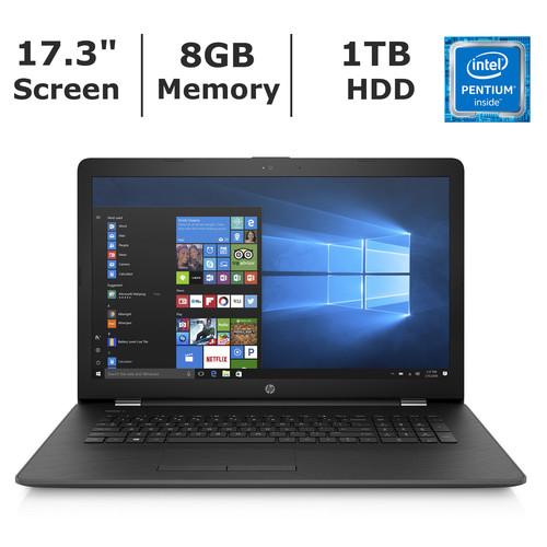 HP 17-BS072NR Notebook, Intel Pentium N3710 Processor, 8GB Memory, 1TB Hard Drive