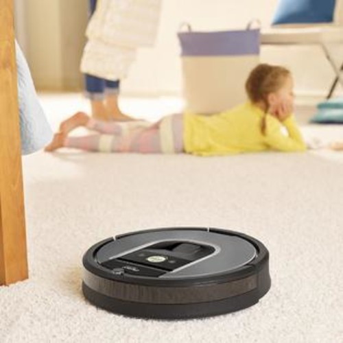 iRobot R960020 Roomba 960 Vacuum Cleaning Robot + Virtual Wall Barrier + 3 Side Brushes + 4 HEPA Filters + AeroForce Extractor