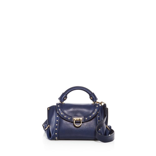 SALVATORE FERRAGAMO Sofia Soft Studded Small Leather Satchel