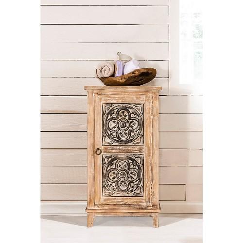 Hillsdale Furniture Toulon Distressed Dark Beige Storage Cabinet
