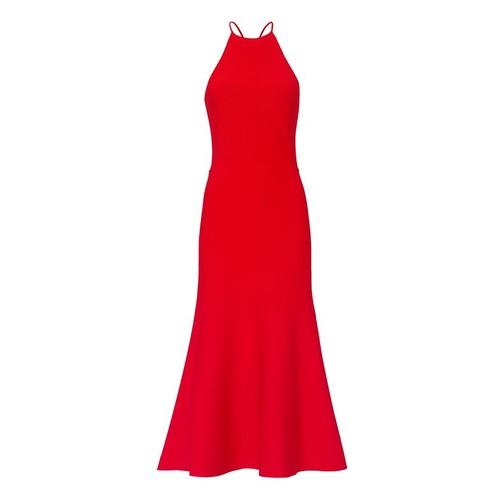 ALEXANDER WANG Red Knit Halter Dress