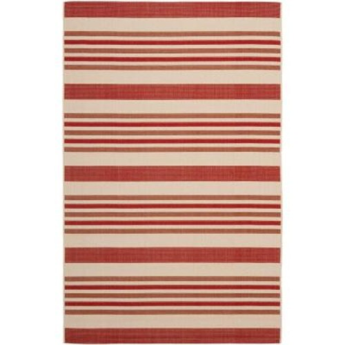Safavieh Courtyard Beige/Red 5 ft. x 8 ft. Indoor/Outdoor Area Rug