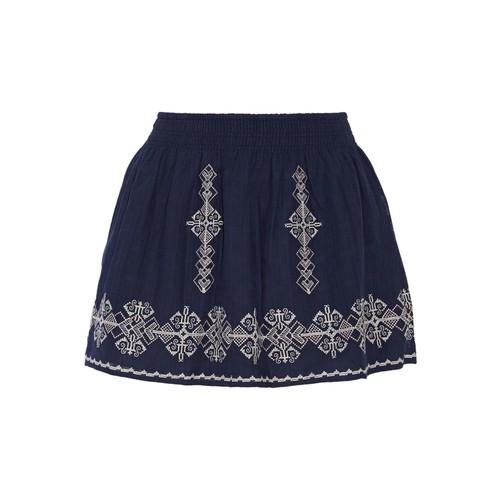 Almanza embroidered cotton mini skirt