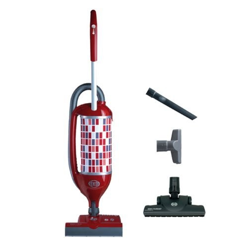 Sebo Vacuums 9809AM Felix Premium Rosso Upright Vacuum with Parquet, Red/Gray - Corded
