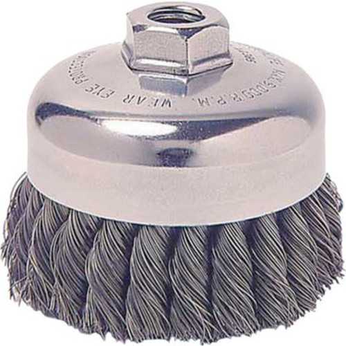 Weiler 0.023 in (Dia) x 1 1/4 in (L) Wire 4 in (Dia) SR-4 Knot Cup Brushes